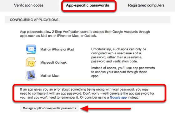 Signing in to applications that access your Google Account