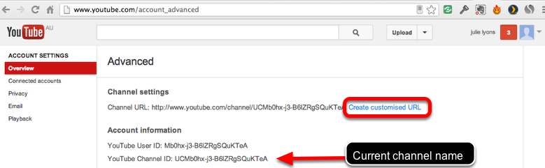 Create a customised address for your channel