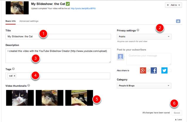 Publish the slideshow