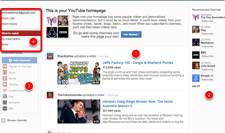 Analysing your Youtube Homepage