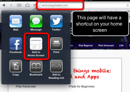 Add a Web Page to your Home Screen