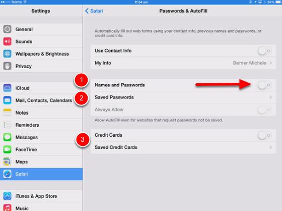Use iCloud Keychain in Safari