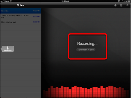 Recording a Note