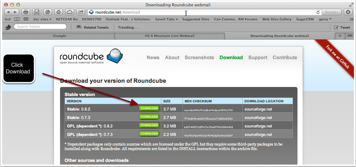 Step 1. Downloading Roundcube webmail