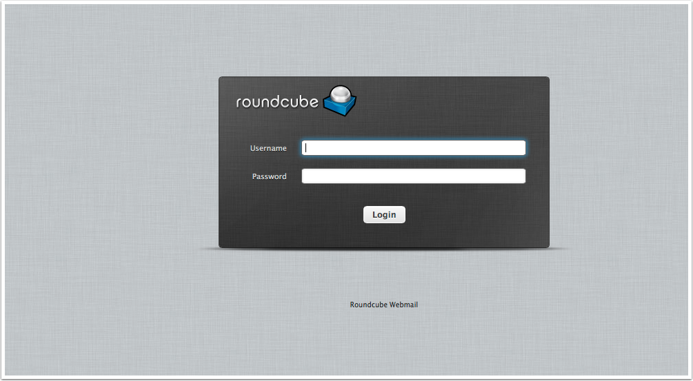 Welcome to Roundcube