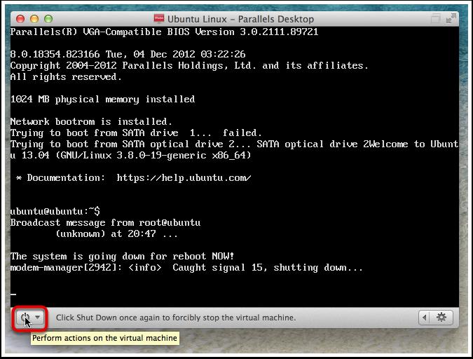 Ubuntu Linux - Parallels Desktop