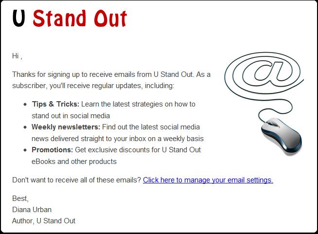 1.受信者にオプトアウトの機会を提供する新しいEメールを作成する