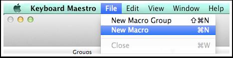 Neues Makro in Keyboard Maestro erstellen