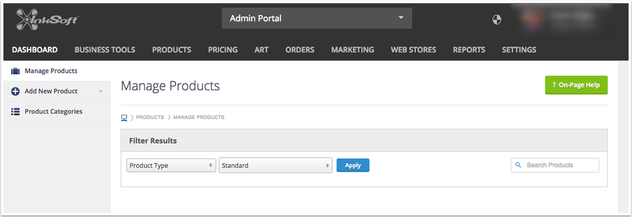 Assigning a Print Pricing Grid in Bulk - Going to the Product Manager