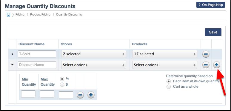 Adding Additional Quantity Discounts