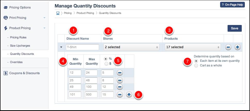 Creating New Quantity Discounts