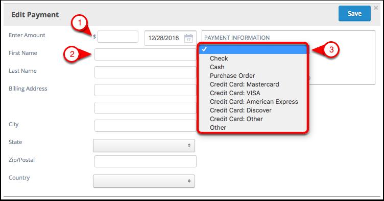 Adding a Payment