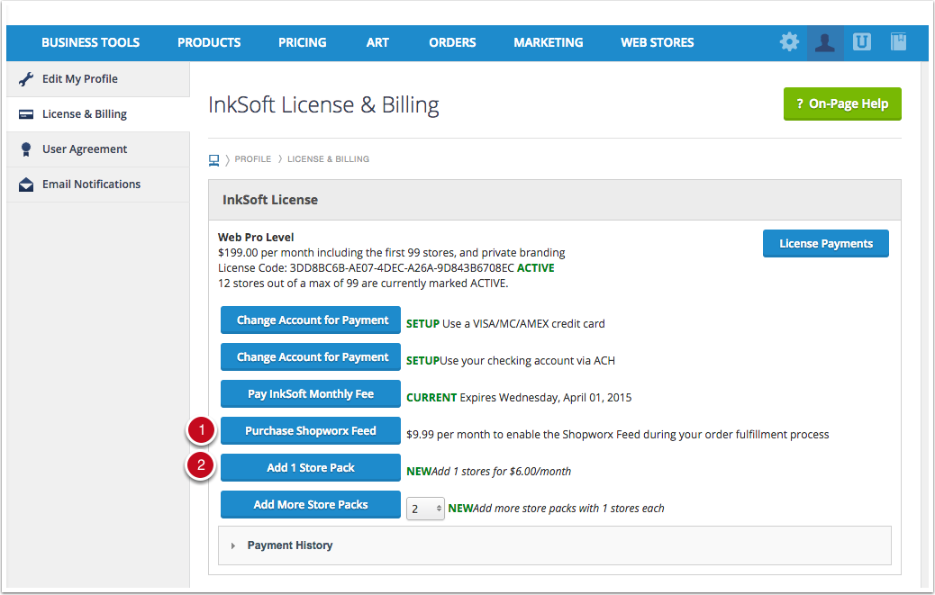 License & Billing