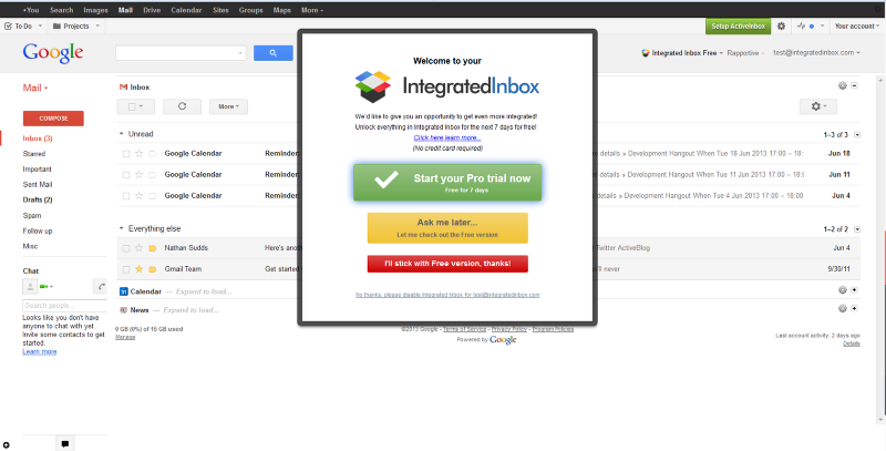 Integrated Inbox Free Trial