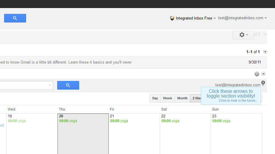 Watch for some helpful tool tips -- like these to help you streamline your Google Calendar view!