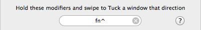 Swipe Shortcut (Modifiers)