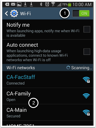 Open up the settings application on your device.