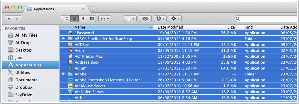 List of Mac OS X Applications