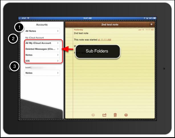 Folders in Notes