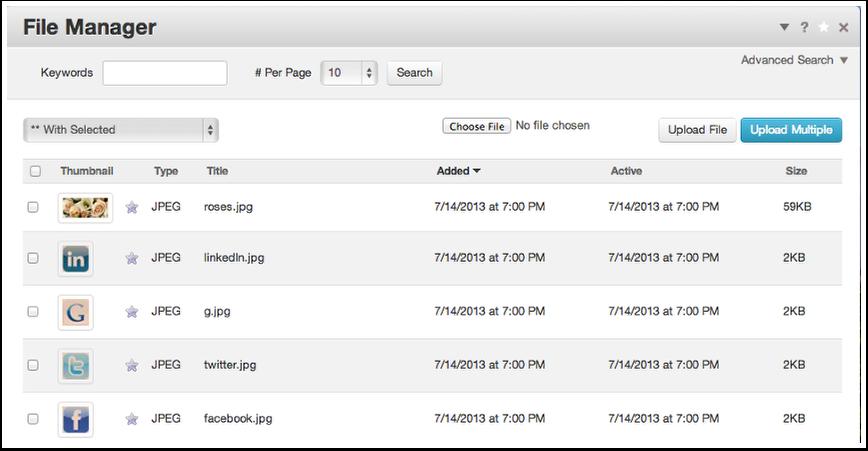 Adding header image and social links: