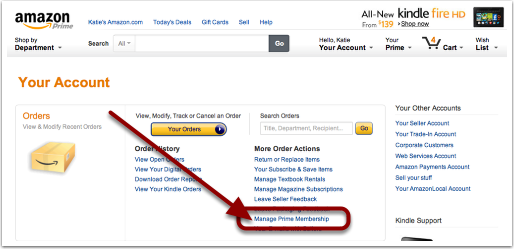 How do you manage your Amazon Prime subscription?