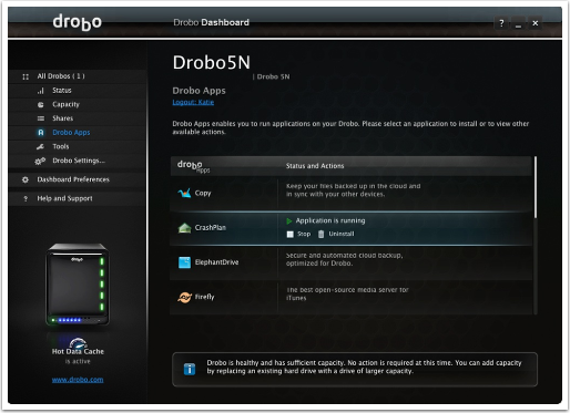 Install CrashPlan on the Drobo