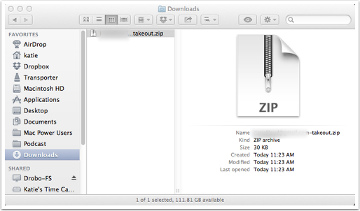 Find and Expand the Downloaded Zip File