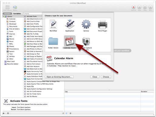 Create a New Automator Action