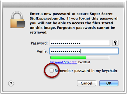 Create a Password for Your Disk Image