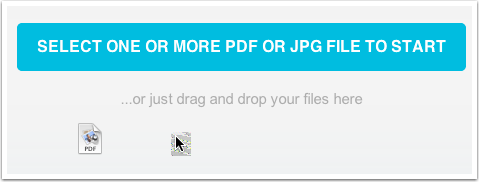Import your PDF (or Jpg)