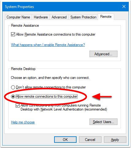 1. Enable Remote Desktop (HOST)