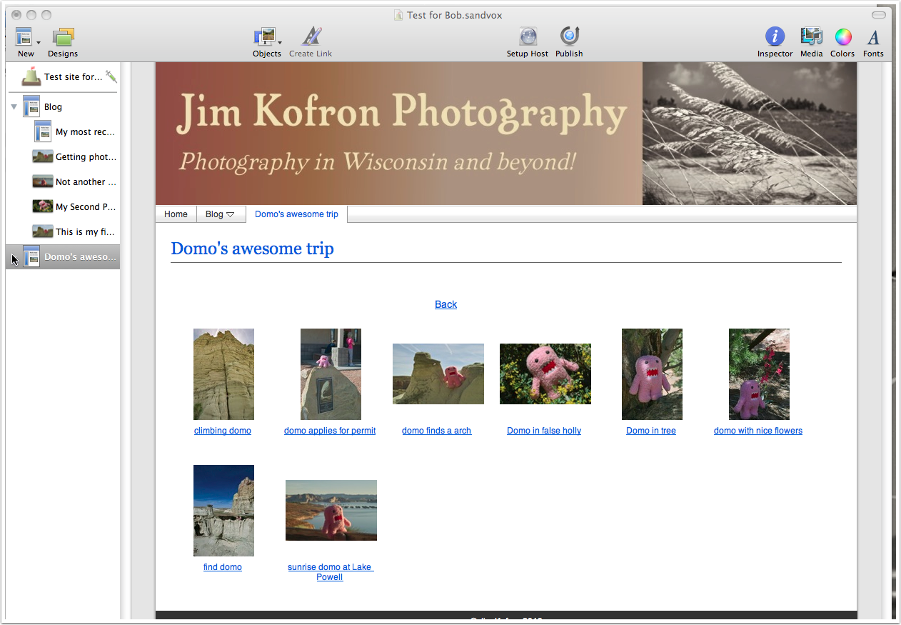 First, configure a photo album, as shown below