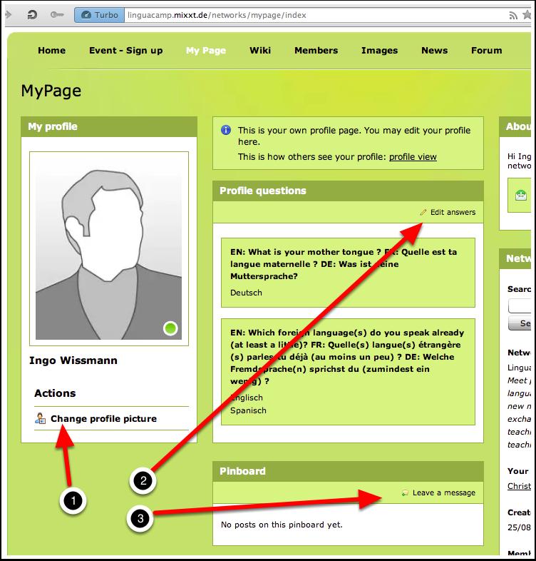 A8. LinguaCamp Berlin 2013 - MyPage 1