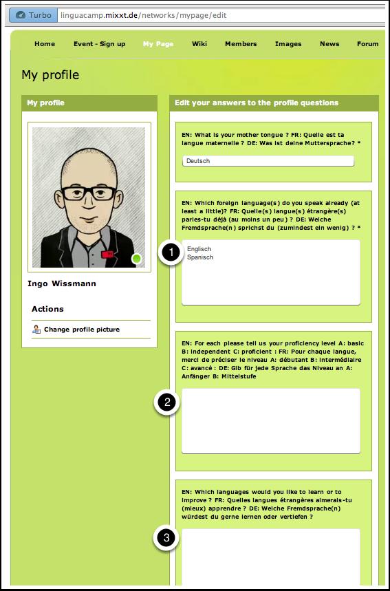 A9. LinguaCamp Berlin 2013 - MyPage 2
