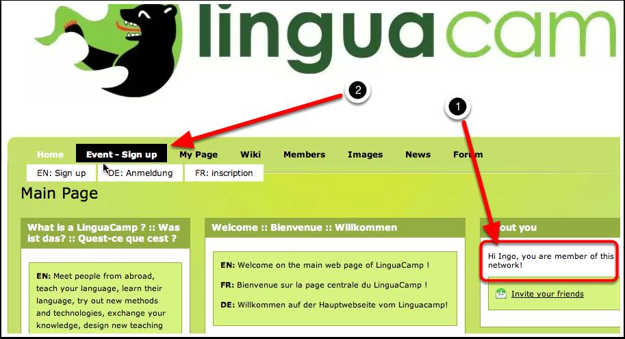 B2. LinguaCamp Berlin 2013 - Event-Anmeldung 1
