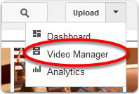 Display the Video Manager for your account