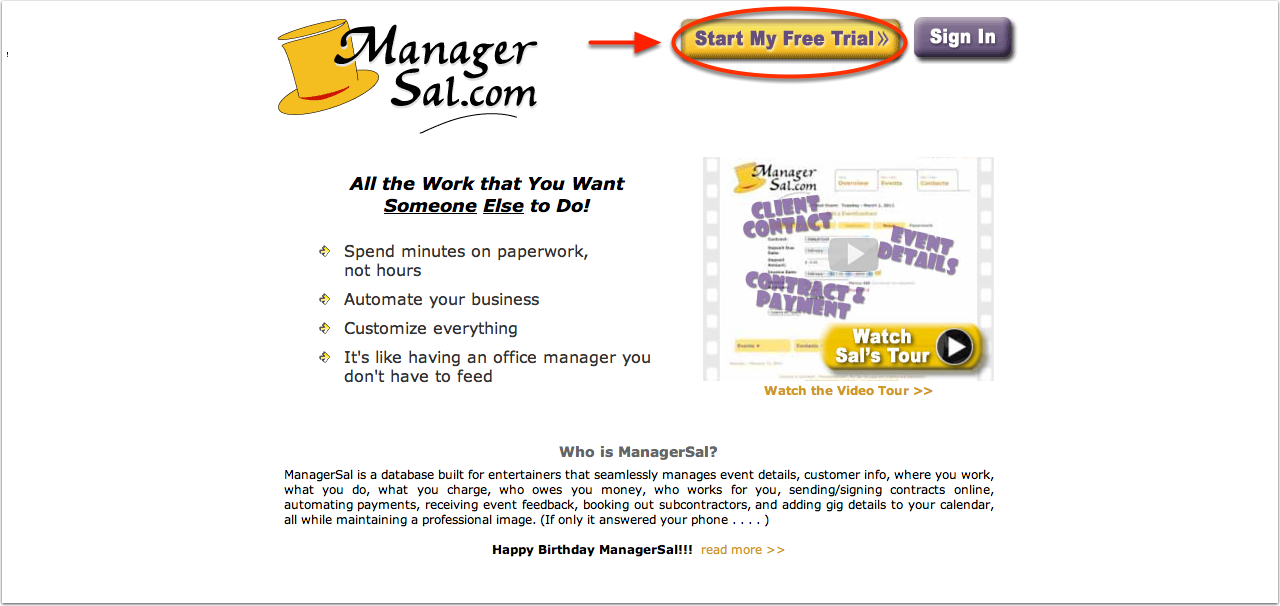 ManagerSal.com - Contacts to Contracts Business Management