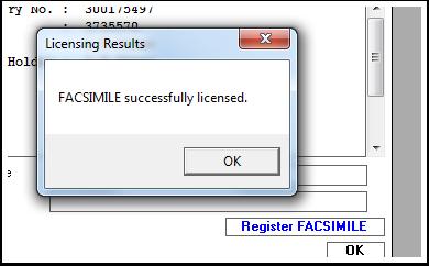License Result