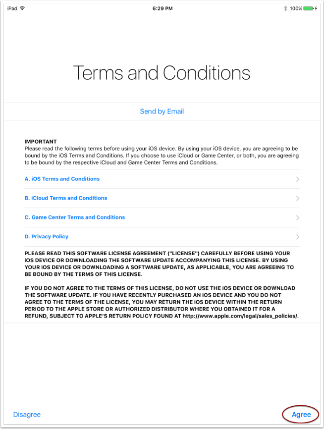 7. Accept iCloud Agreement