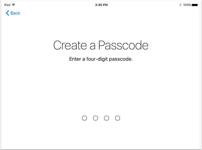 12. Create a Passcode