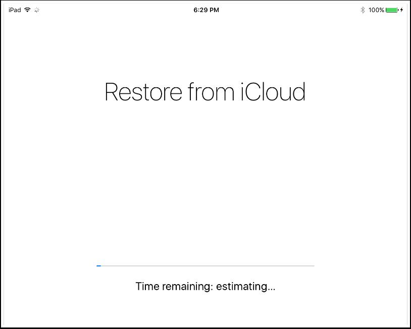 9. iCloud Restore Will Begin