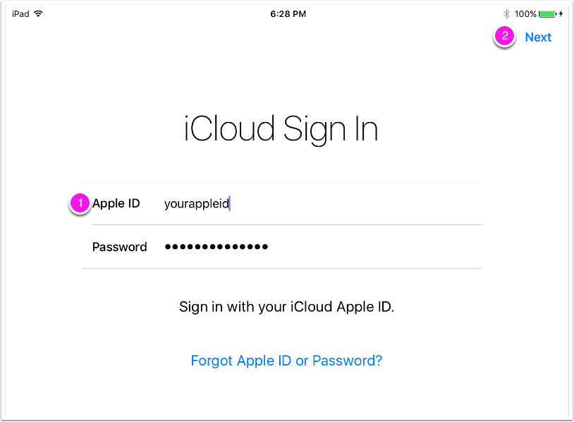 6. Sign Into iCloud
