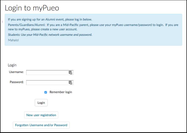 STEP 1: Login to myPueo
