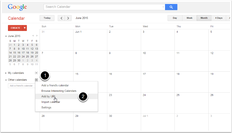how to add zolo calender to google