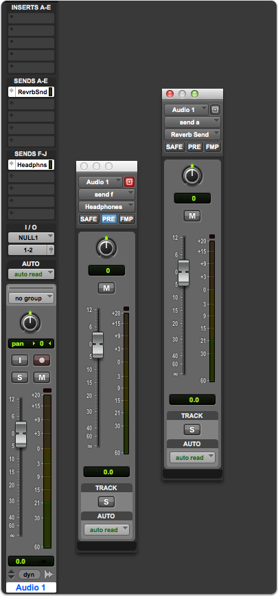 Setting up a reverb send using Post-Fader Sends