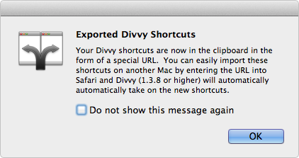 Export Shortcuts