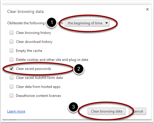 Settings - Clear browsing data - Google Chrome