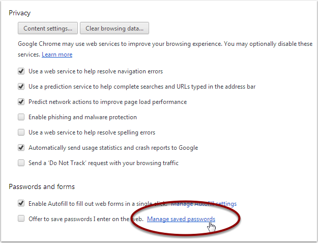 Settings - Google Chrome