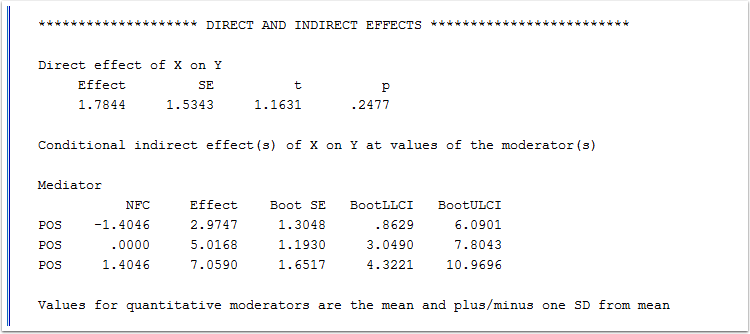 5) Tests of Direct and Indirect Effects