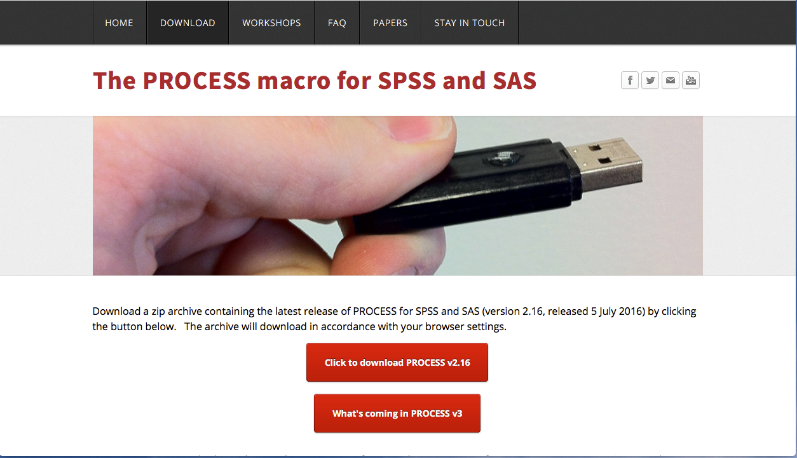 For this example we will use the PROCESS Macro